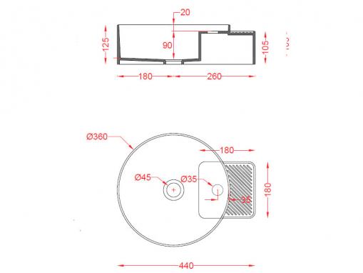 Раковина ArtCeram Cartesio CAL004
