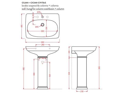 ArtCeram Civitas CIL001+CIC001