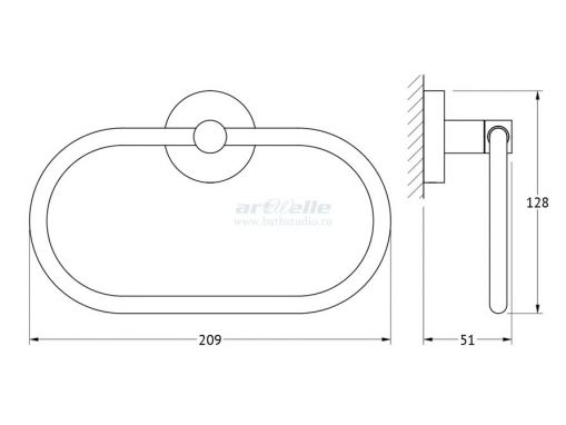 Artwelle Harmony HAR 022 полотенцедержатель