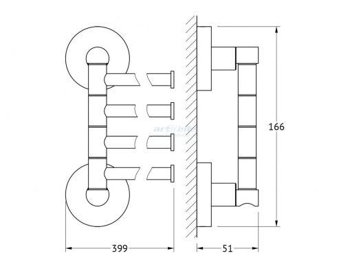 Artwelle Harmony HAR 025 полотенцедержатель