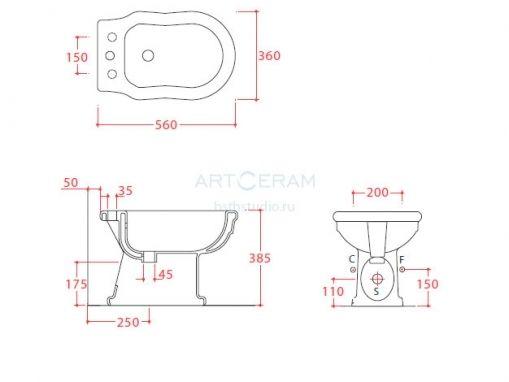 ArtCeram Hermitage HEB002