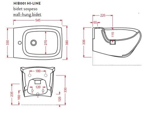 Биде ArtCeram Hi-Line HIB001