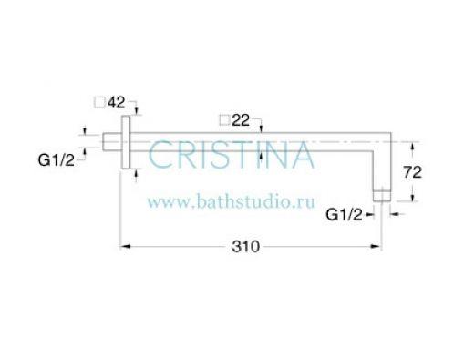 Cristina Shower, размеры