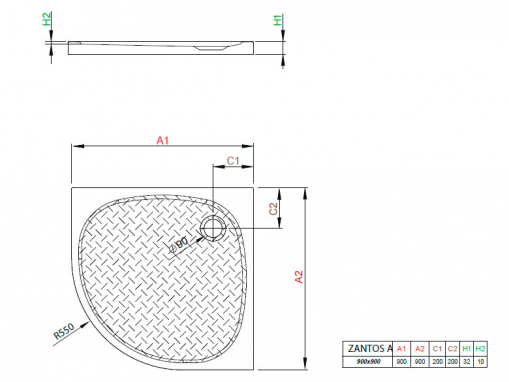 Radaway Zantos A900