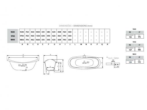Чугунная ванна Antique 170х76