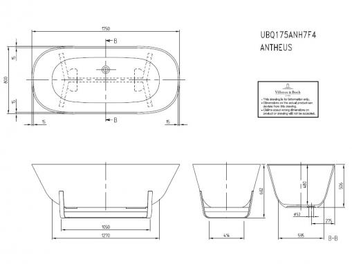 Квариловая ванна Villeroy&Boch Antheus 175