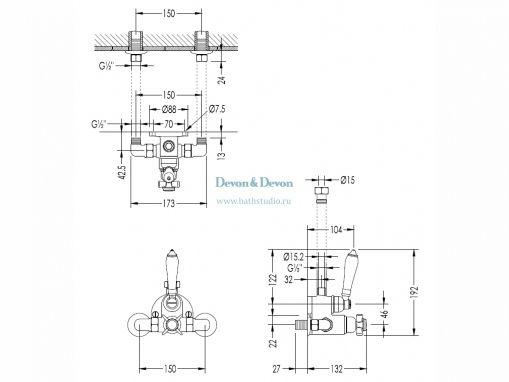 Devon HUF84, размеры