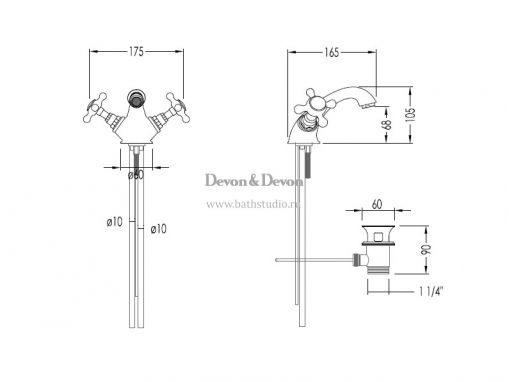 Devon Austin UTAU910, размеры
