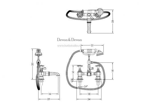 Devon Jubilee ADNJ30, размеры