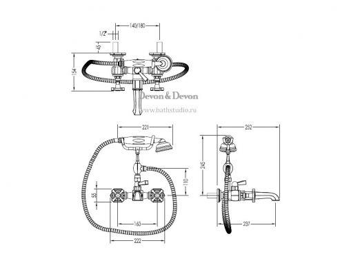 Devon Jubilee ADNJ34, размеры