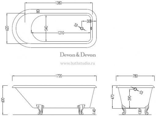 Devon&Devon Kensington, размеры