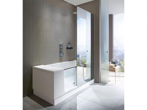 Ванна с дверцей Shower + Bath 700404 с зеркалом