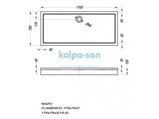Kolpa-san Flamenco 170x75