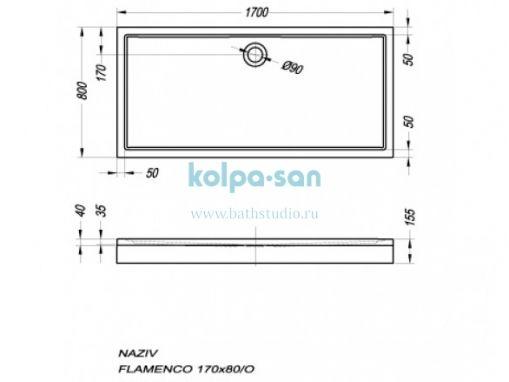 Kolpa-san Flamenco 170x80