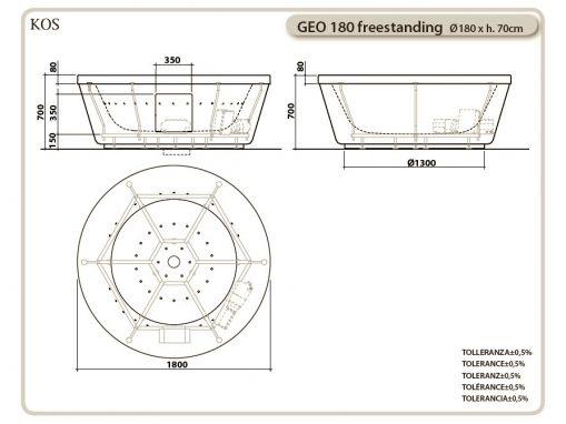 Ванна KOS GEO 180