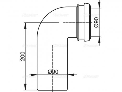 Alcaplast M908 Колено стока DN90/90