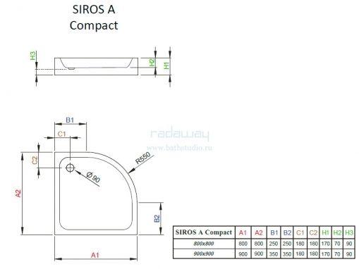 Radaway Siros A Compact