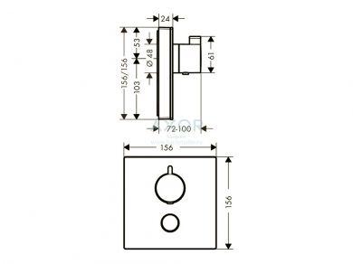 Термостат Axor ShowerSelect 15735600