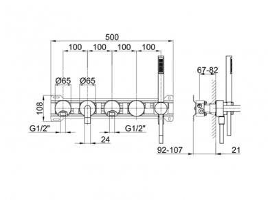 Fantini 1700 A219A Встраиваемая часть смесителя для ванны