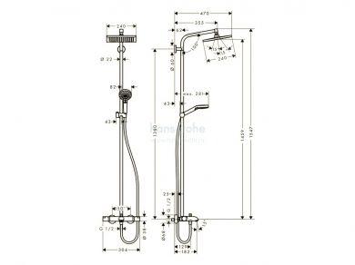 Hansgrohe Crometta E 240 Showerpipe 27298000