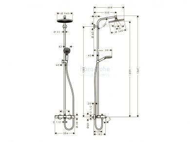 Hansgrohe Crometta E 240 Showerpipe 27320000