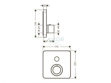 Термостат Axor ShowerSelect Soft 36705000