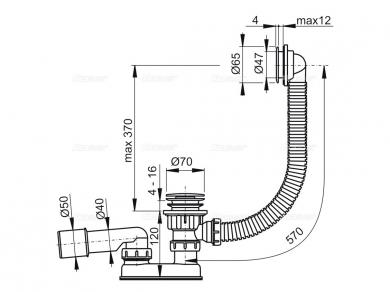 Alcaplast A505CRM Обвязка для ванны, хром