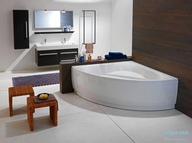 Угловая акриловая ванна Kolpa san Alba 150х150