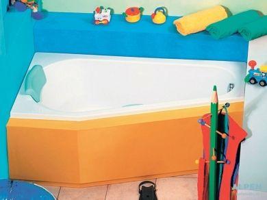 Акриловая асимметричная ванна Alpen Projekta 160х80