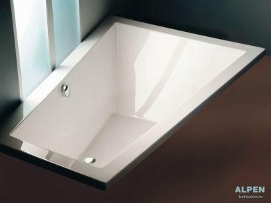Акриловая асимметричная ванна Alpen Triangl 180х120