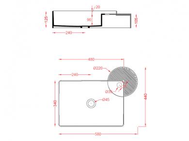 Раковина ArtCeram Cartesio CAL002