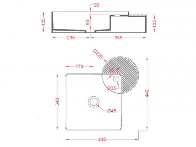 Раковина ArtCeram Cartesio CAL003