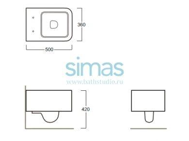 Simas Flow, размеры