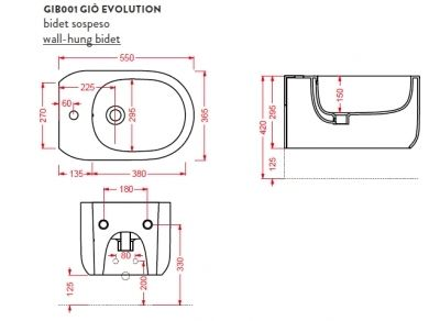 Биде ArtCeram Gio Evolution GIB001