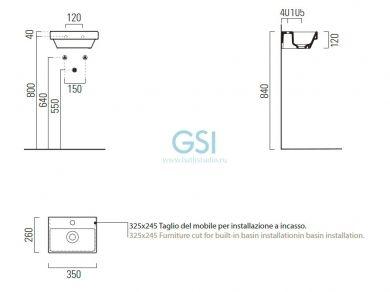 GSI Norm, размеры