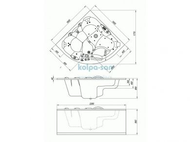 Kolpa-san Gaia 160, размеры