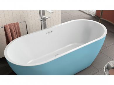 Акриловая ванна Kolpa san Dalia FS 170x80, синяя
