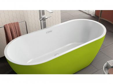 Акриловая ванна Kolpa san Dalia FS 170x80, зеленая