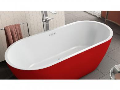 Акриловая ванна Kolpa san Dalia FS 170x80, красная