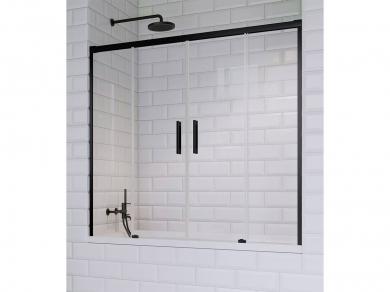 Раздвижная шторка для ванны Radaway Idea Black PN DWD 180
