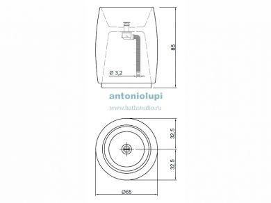 Antonio Lupi BarrelM, размеры