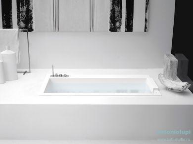 Ванна встраиваемая из искусственного камня Antonio Lupi Biblio 180