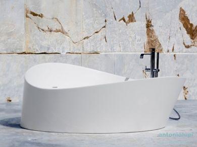 Круглая ванна из искусственного камня Antonio Lupi Dune d172см