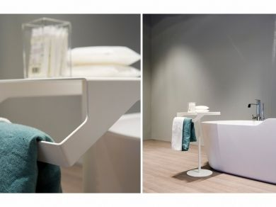 Antonio Lupi GINO Столик для аксессуаров с полотенцедержателем