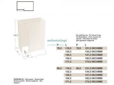 Antonio Lupi ISOLA, размеры