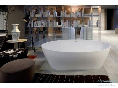 Отдельностоящая овальная ванна Antonio Lupi SOLIDEA 190х130