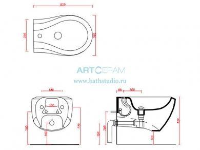 ArtCeram Blend, размеры