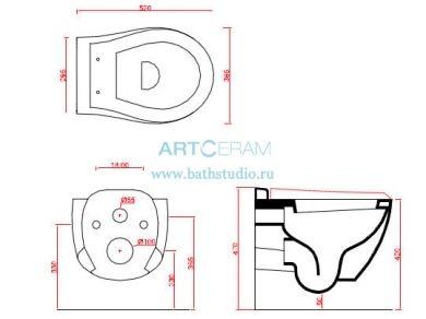 ArtCeram Blend, размер