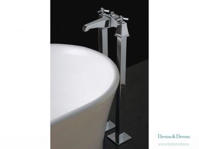 Devon&Devon Time Смеситель для ванны напольный, с душевым гарнитуром