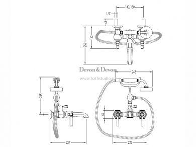 devon-jubilee-black-lever-adjbl34, размеры